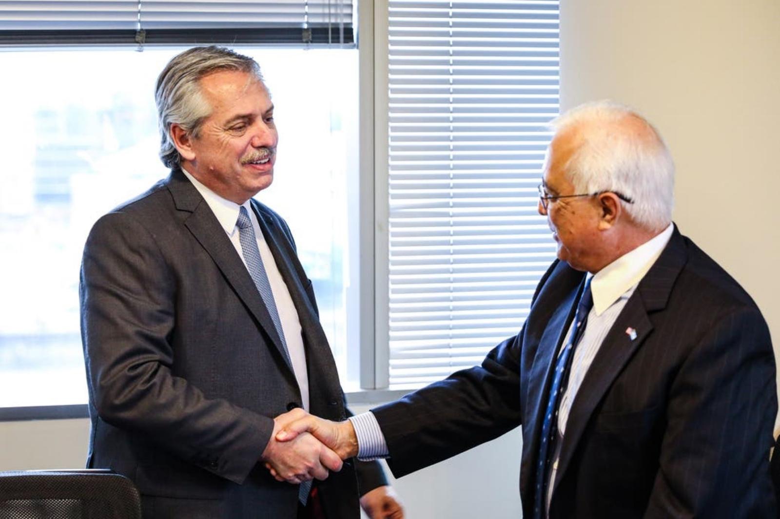Alberto Fernández recibió al embajador de Estados Unidos Edward Prado