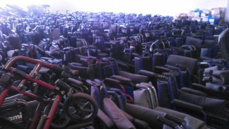 Final feliz para las 15.000 sillas de ruedas abandonadas por el PAMI