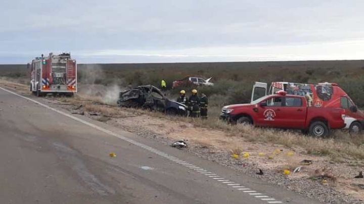 Accidente fatal en General Conesa: Tres personas murieron calcinadas