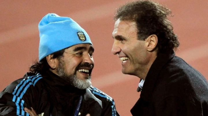 El mano a mano de Maradona con Ruggeri. ¡Imperdible! VIDEO