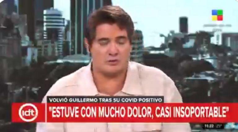 Guillermo Andino lloró al aire, al hablar de cómo superó el Covid