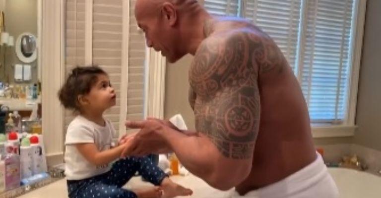 Dwayne Johnson 'La Roca' hace tierno video junto a su hija