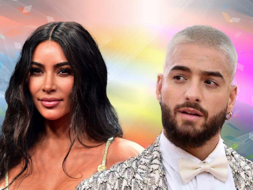 Kim Kardashian sorprende tras posar junto a Maluma